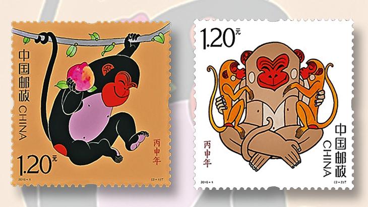 honarary-award-china-year-of-the-monkey-stamps