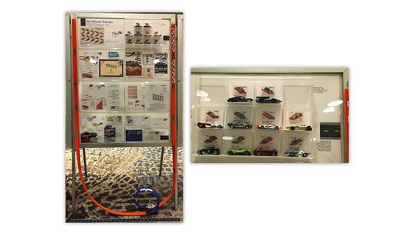 Hot Wheels commemorative stamp exhibit by Jay Bigalke