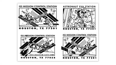 houston-texas-space-pictorial-postmarks