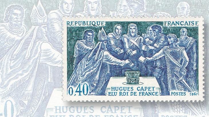 hugh-capet-election-france-stamp