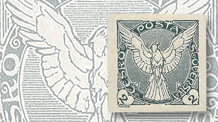 hughes-mucha-czech-newspaper-stamp