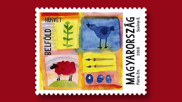 hungary-easter-stamp