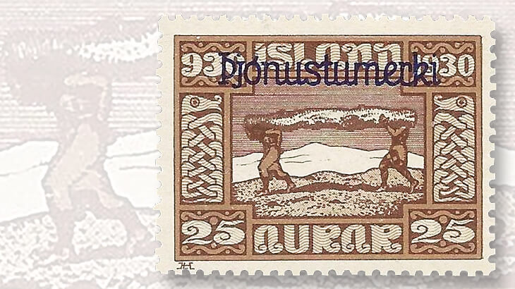 iceland-althing-millennium-overprint-stamp