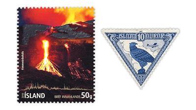 iceland-eyjafjallajokull-volcano-gyrfalcon-stamps