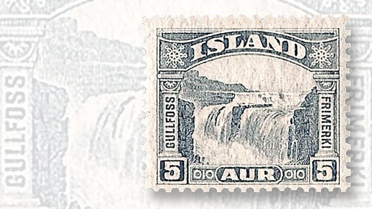 iceland-gullfoss-waterfall-stamp
