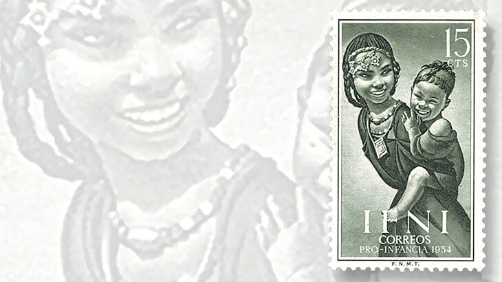 ifni-mother-and-child-stamp
