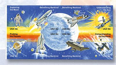 imperforate-block-of-eight-space-achievement-stamps-1981