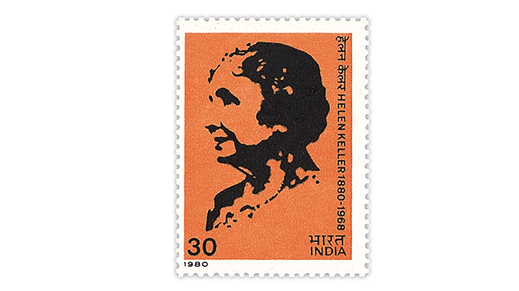 india-1980-helen-keller-stamp