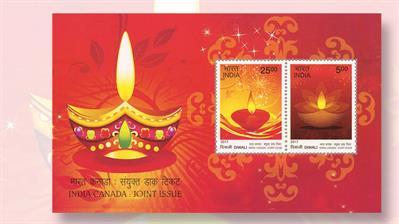 india-diwali-souvenir-sheet-joint-issue-canada