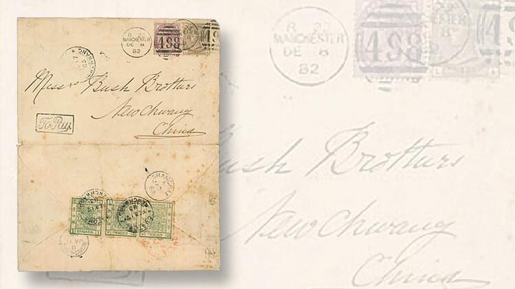 interasia-1883-mixed-franking-england-manchuria-large-dragon-cover