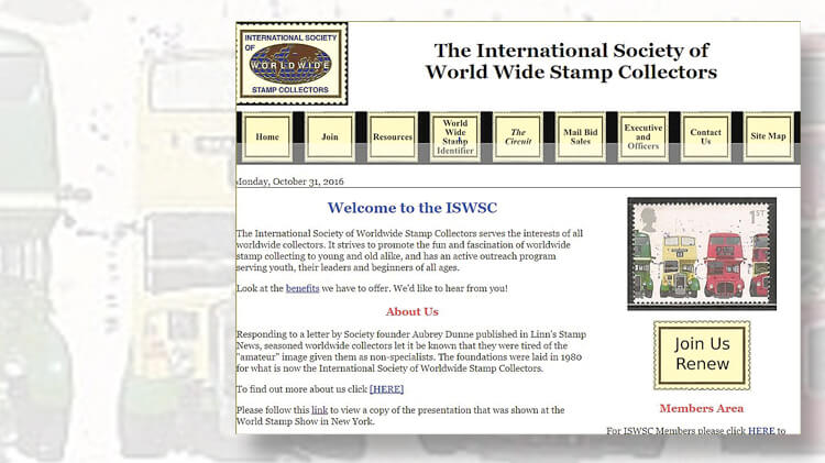 international-society-of-world-wide-stamp-collectors-website