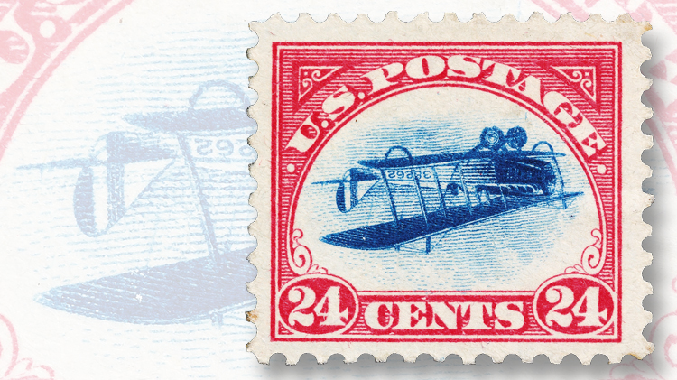 Inverted Jenny Position 79 stamp
