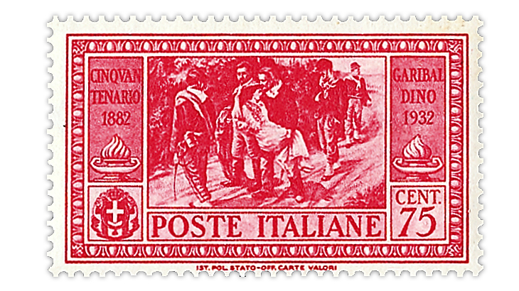 italy-1932-garibaldi-dying-mother-stamp