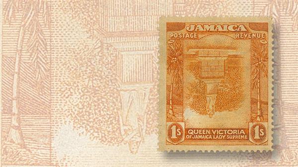 jamaica-victoria-statue-invert-stamp