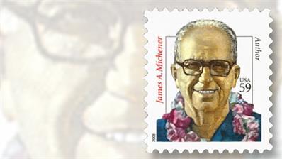 james-michener-distinguished-americans-stamp