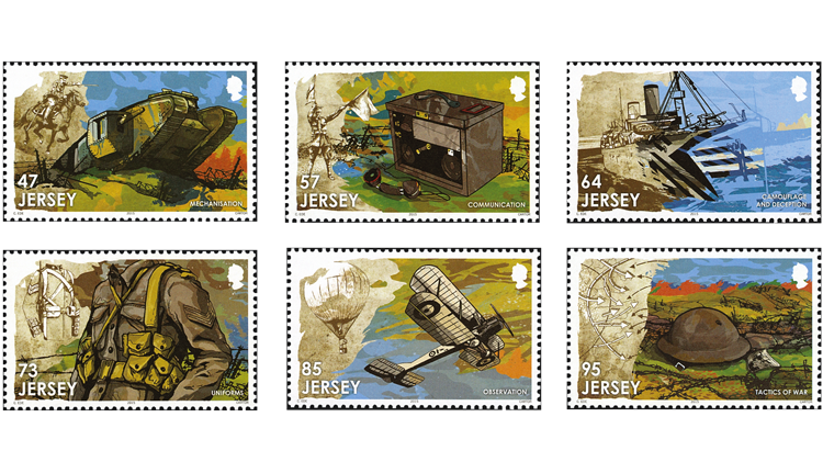 jersey-post-remembers-world-war-i-stamps