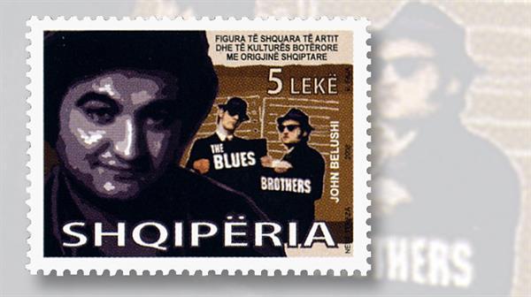 john-belushi-albania-stamp