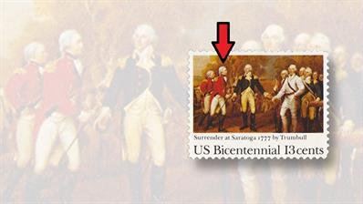 john-burgoyne-saratoga-surrender-stamp