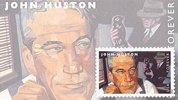 john-huston-film-directors-stamp