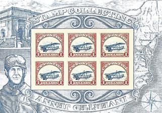 jon-krulla-pane-of-rare-upright-jenny-invert-stamp