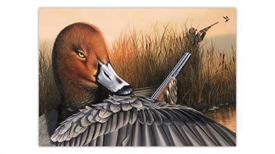 josie-morway-painting-duck-hunting-hunters