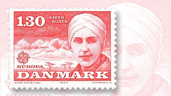 karen-blixen-denmark-europa-stamp