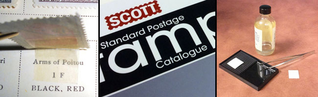 Stamp album, Scott catalog, stamp soaking