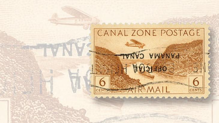kelleher-auction-kuske-canal-zone-overprint-invert-error