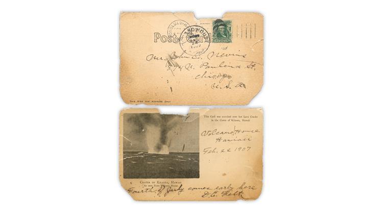 kilauea-crater-hawaii-hot-lava-cracks-1907-postcard