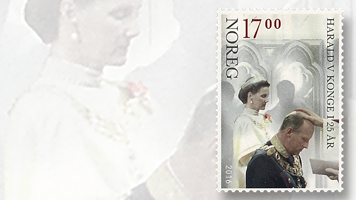 king-harald-accession-stamp