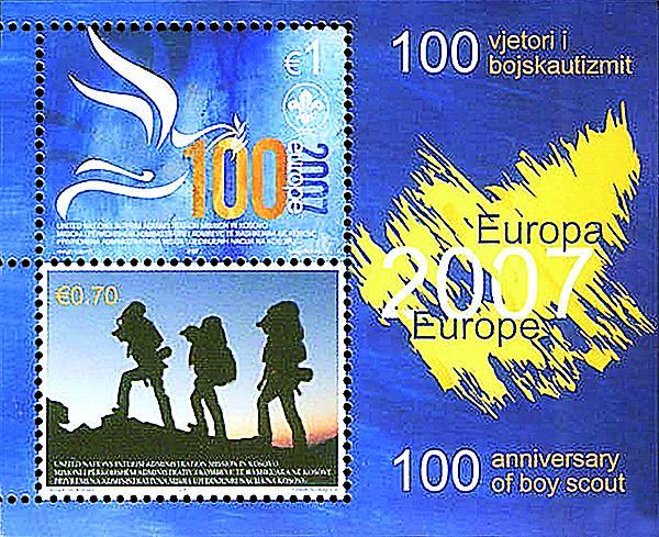 kosovo-centenary-of-scouting-souvenir-sheet-2007