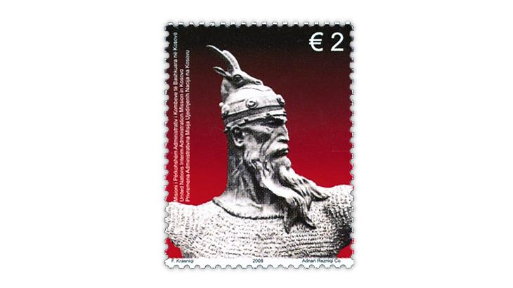 kosovo-united-nations-2008-skanderbeg-stamp