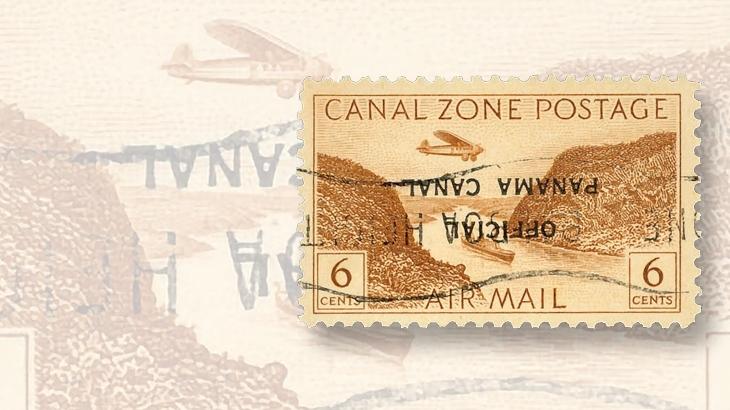 kuske-collection-canal-zone-airmail-official-overprint-invert-daniel-kelleher-auctionn-2015
