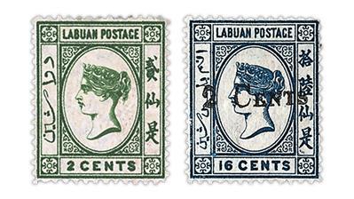 labuan-queen-victoria-stamps