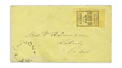 large-beaumont-texas-postmaster-provisional-confederate-states-cover