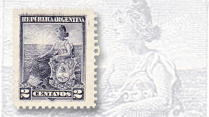 Argentina Seated Liberty stamps