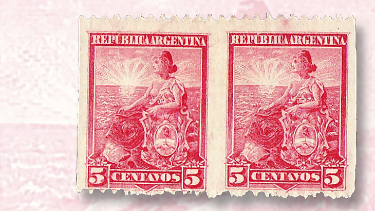 latin-america-argentina-1899-1903-seated-liberty-vertically-imperforate-pair