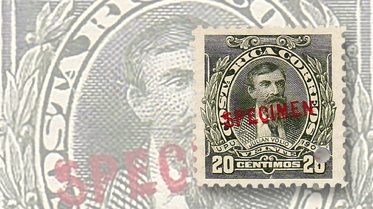 latin-america-costa-rica-julian-volio-llorente-specimen-stamp-later-printing