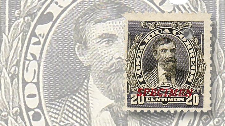 latin-america-costa-rica-julian-volio-llorente-specimen-stamp