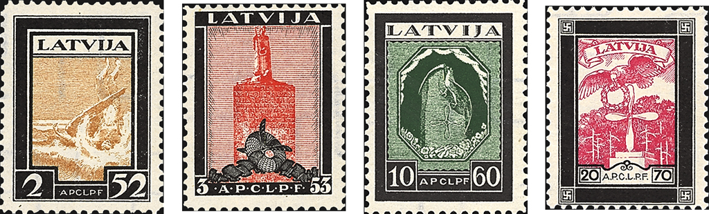 latvia-airmail-semipostal-stamps-1933