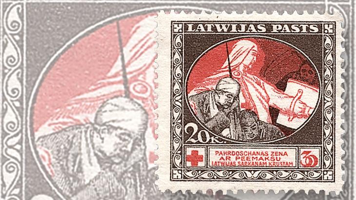 latvia-first-semipostal-stamp