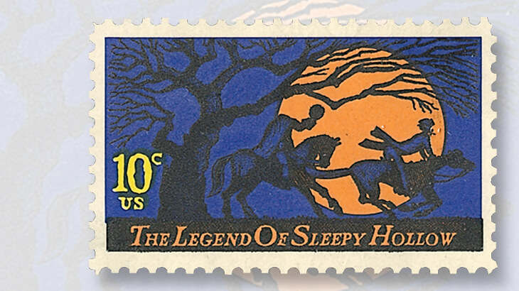 legend-of-sleepy-hollow-halloween-stamp