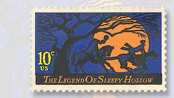 legend-of-sleepy-hollow-halloween-stamp