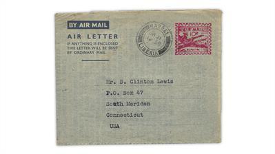 Liberia-1950-dc-4-skymaster-aerogram