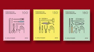 liechtenstein-trades-crafts-stamps