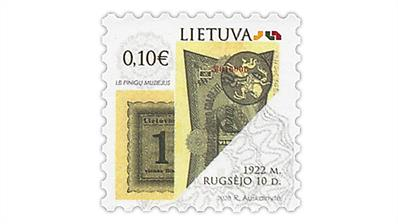 lithuania-banknotes-postage-stamp