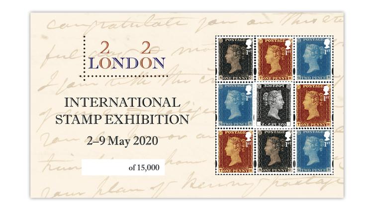 london-2020-penny-black-two-penny-blue-penny-red-souvenir-sheet
