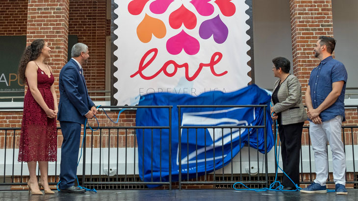 Love Hearts Blossom ceremony unveiling
