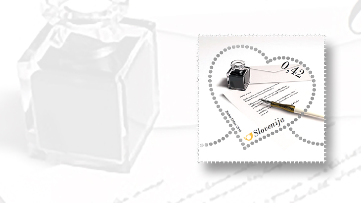 love-letters-hearts-on-stamps-slovenia-valentines-day