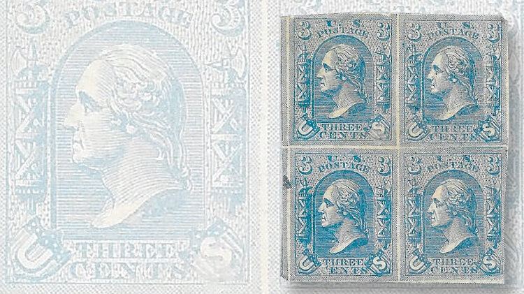 affordable essays and trial color proofs com this handsome block of four in blue of the lowenberg 1867 3acirccent essay won t break your budget